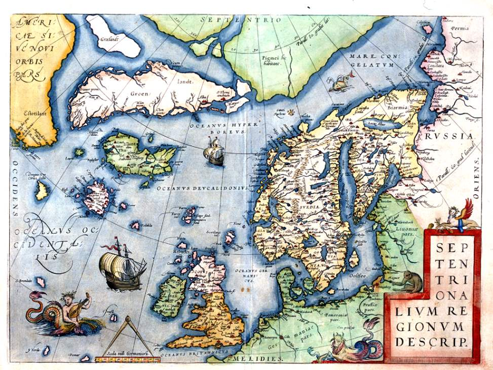 Karte des Nordatlantiks