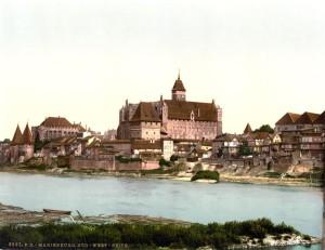 Ordensburg Marienburg - Südwest-Seite um 1900 (Quelle: Wikimedia)