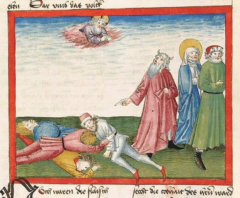 Bibel AT Cod Pal germ 16 - Tod der Juden die Wachteln gegessen haben