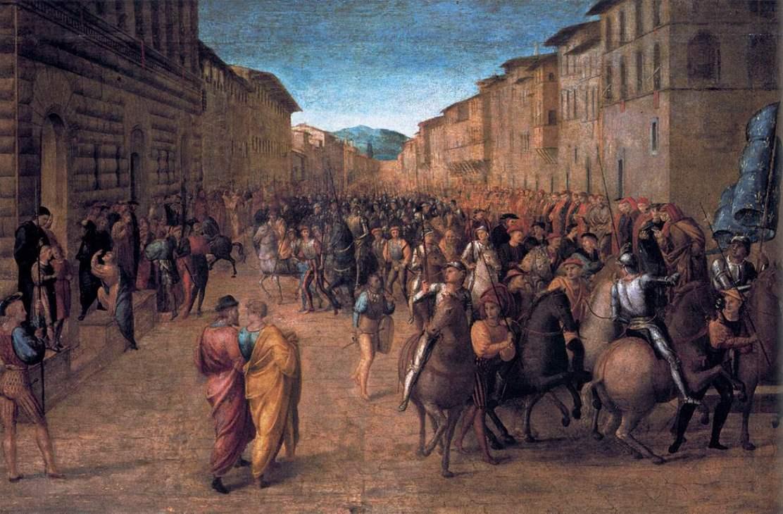 Einmarsch Karls VIII. in Florenz - 1518 - Gemälde von Francesco Granacci