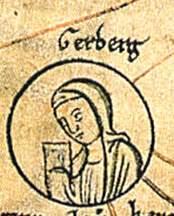 Gerberga von Sachsen Verwandtschaftstafel der Ottonen (Chronica St. Pantaleonis, zweite Hälfte des 12. Jahrhunderts. Herzog August Bibliothek, Wolfenbüttel, Cod. Guelf. 74.3 Aug., pag. 226) Quelle: Wikipedia