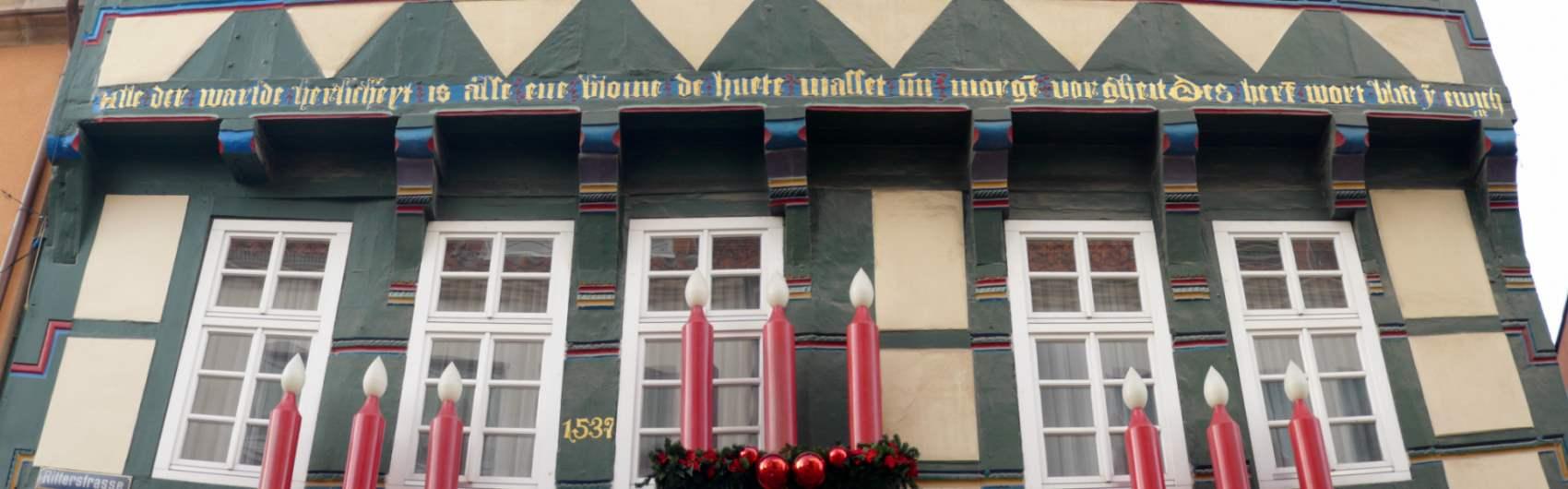 Mittelniederdeutsch - Fachwerkhaus in Hameln