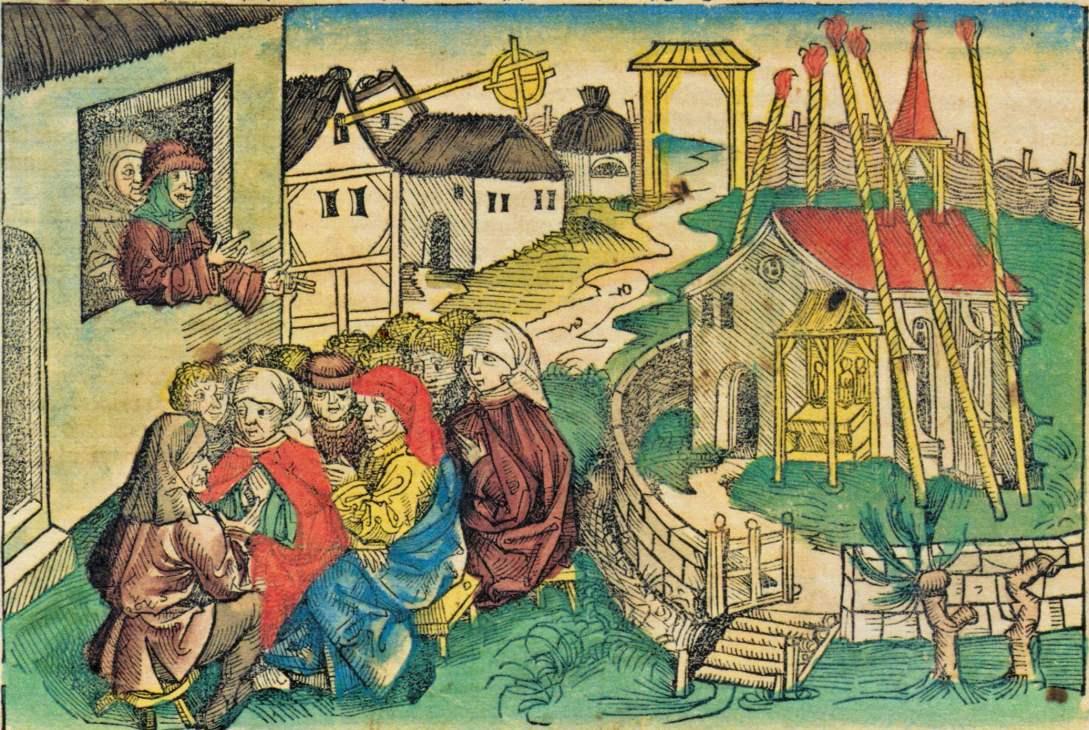 Der Pauker von Niklashausen aus der Schedelschen Chronik 1493