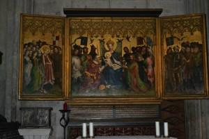 Altar der Stadtpatrone von 1445 - Stefan Lochner hängt heute im Kölner Dom Foto: Hans-Peter Müller