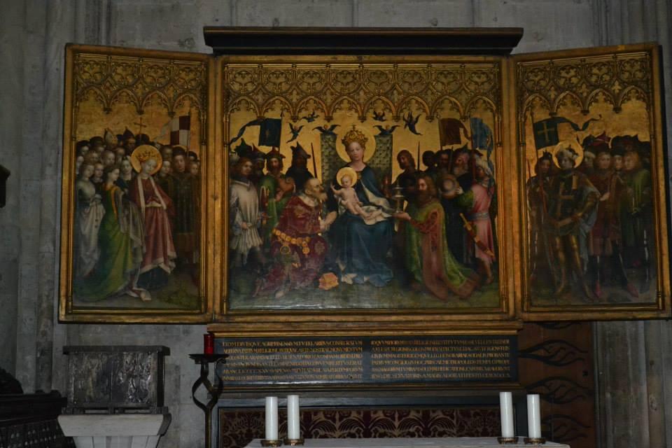Der Altar der Stadtpatrone und seine Unterzeichnungen