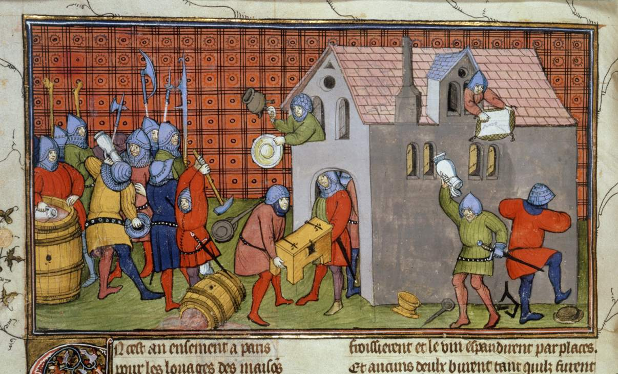 Chroniques de France ou de St Denis from 1270 to 1380 f 41v