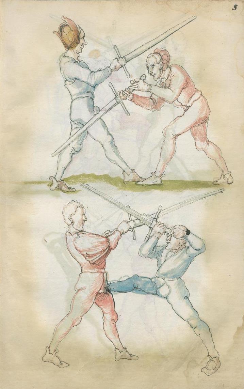Fechtbuch: Libr. pict. A 83 Autor unbekannt 16. Jahrhundert Quelle: Staatsbibliothek zu Berlin – PK Lizenz: Creative Commons-Lizenz cc-BY-NC-SA