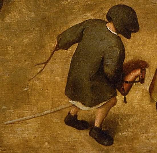 Steckenpferd aus Die Kinderspiele von Pieter Bruegel der Ältere um 1560