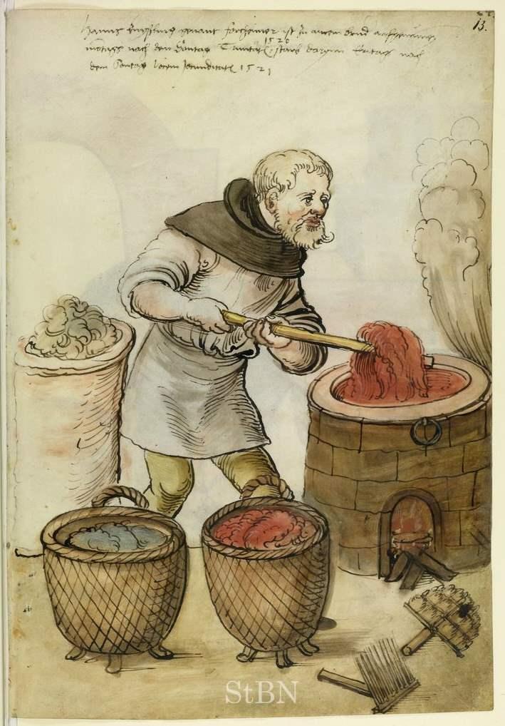 Färber - Hausbuch der Landauerschen Zwölfbrüderstiftung