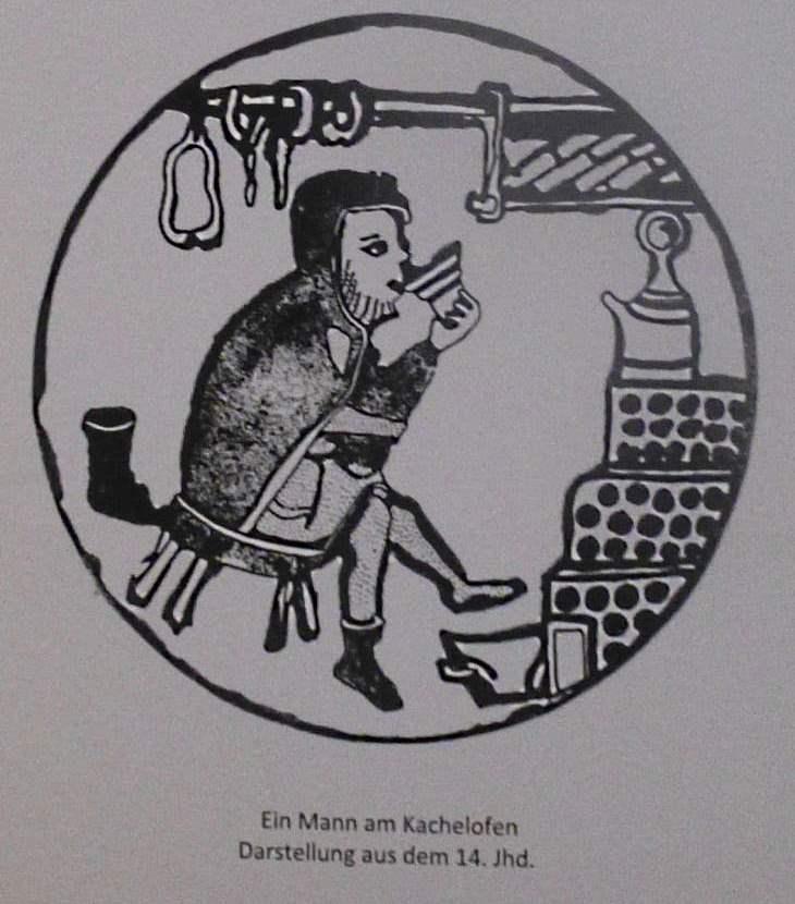 Ausschnitt aus einer Würzburger Handschrift 14. Jahrhundert Jura-Museum Eichstätt Quelle: eigene Aufnahme
