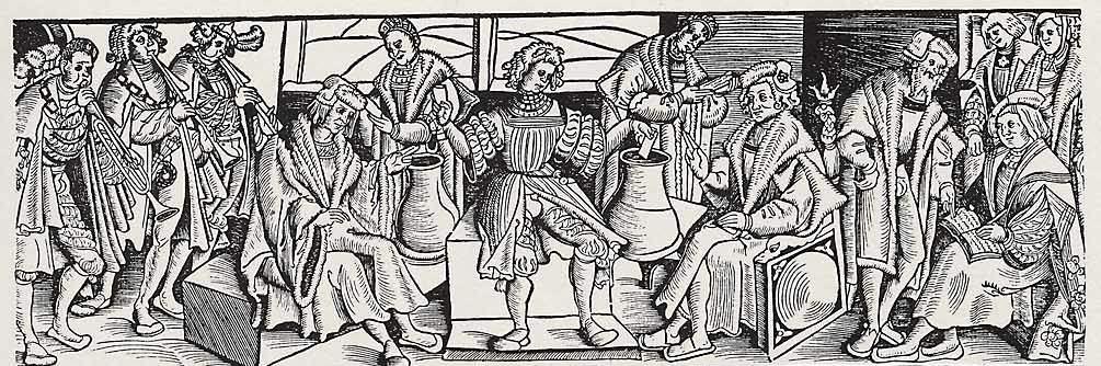 Die Rostocker Lotterie - Holzschnitt von Erhard Altdorfer 1518