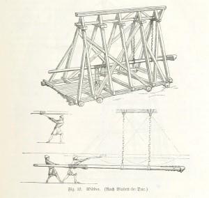 """Widder - Zeichnung aus """"Bilder aus der deutschen Kulturgeschichte"""" von Albert Richter 1882 (Quelle: Wikipedia)"""