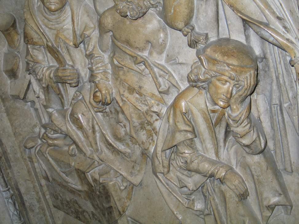 Die Heilung vom Steinleiden - Ausschnitt Kaisergrab Riemenschneider