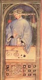 Guy de Chauliac - Auschnitt aus einer mittelalterlichen Illustration