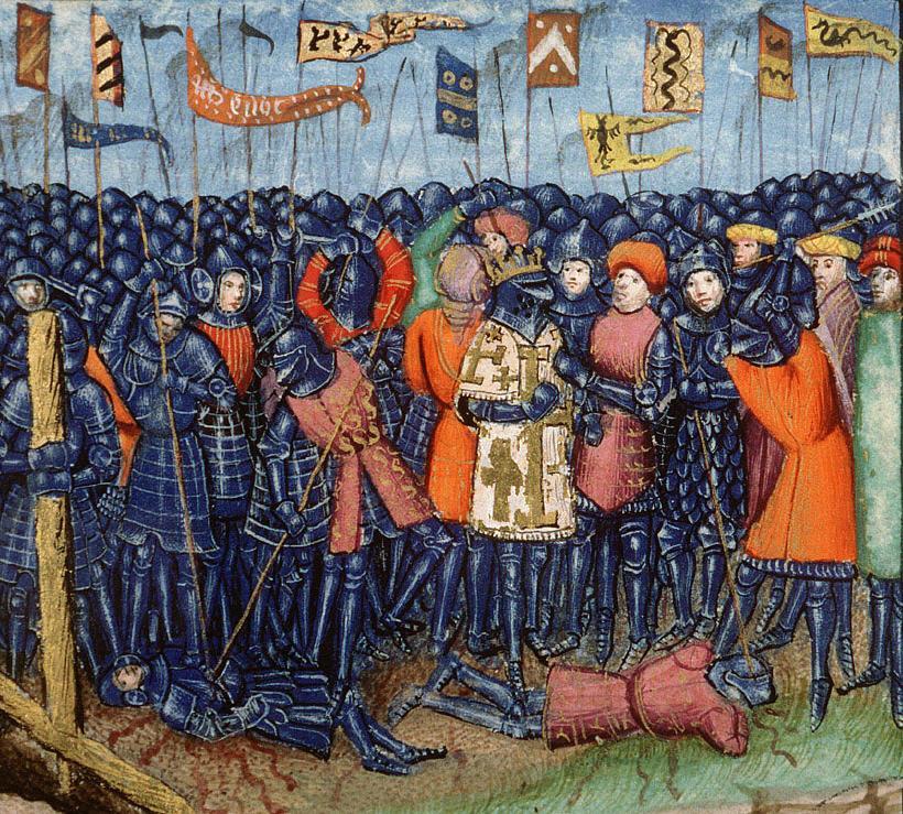 Schlacht bei Hattin, Darstellung aus dem 15. Jahrhundert (Quelle: Wikipedia)