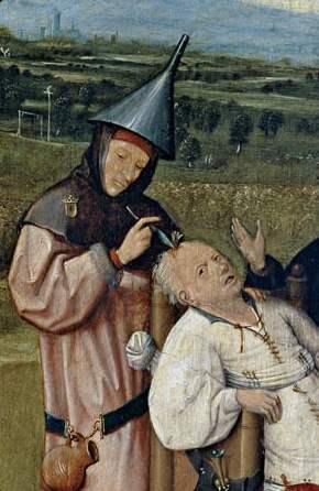 Hieronymus Bosch (1450-1516) - Entfernung des Wahnsinnsteins