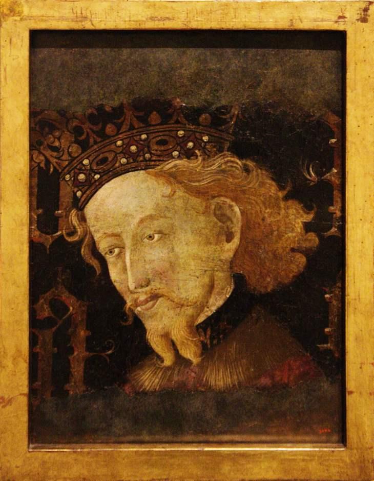 König Jakob I. von Aragón, dargestellt von Gonçal Peris Sarrià und Jaume Mateu, 1427, Museu Nacional d'Art de Catalunya