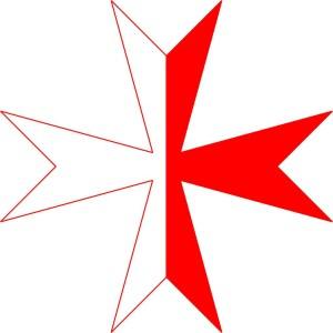 Kreuz der Ritter von Montjoie Titel: Cross of order of mountjoy  Foto: Life of Riley Original-Datei: Cross of order of mountjoy Lizenz: creativecommons.org/licenses/by-sa/3.0/deed.de (Quelle: Wikipedia)