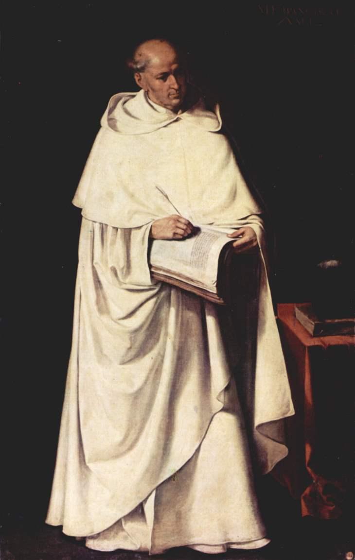 Mercedarier mit weißem Habit, Skapulier und Chormantel, von Francisco de Zurbarán (um 1633)