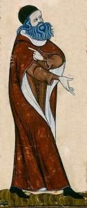 Raimundus Lullus - Ausschnitt aus Cod St Peter perg 92 Blatt 11v Quelle: Wikipedia