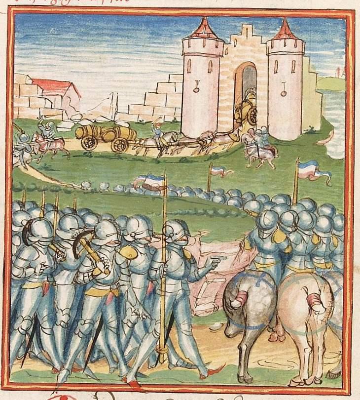 Cod Pal germ 152 Elisabeth -Nassau-Saarbrücken- Gräfin 1393-1456- Herpin Stuttgart - Werkstatt Ludwig Henfflin um 1470 Seite 156r