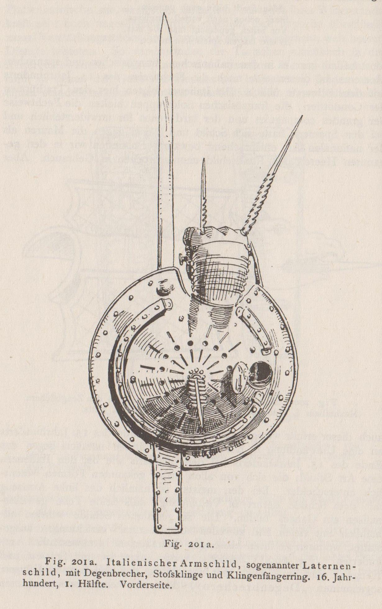 """Darstellung aus """"Handbuch der Waffenkunde"""" von Wendelin Boeheim (Verlag E.A. Seemann, Leipzig 1890)"""