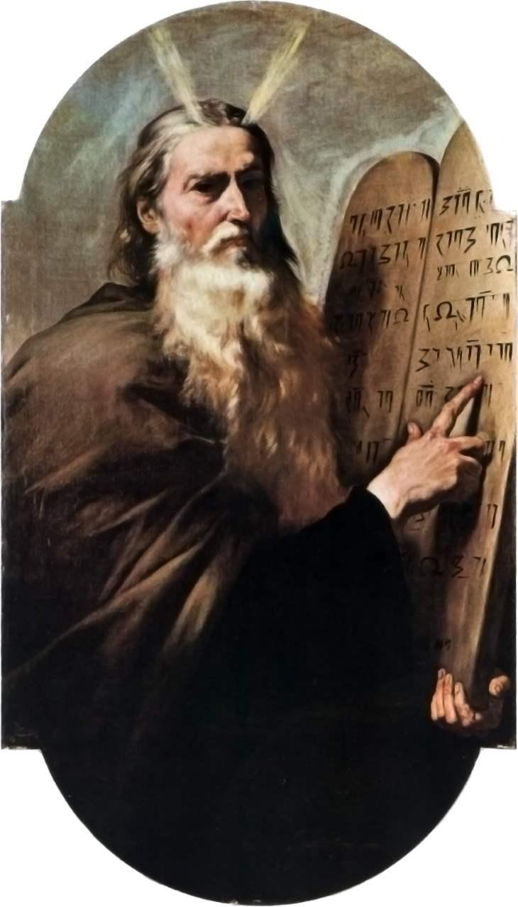 Moses und die Tafel mit den 10 Geboten