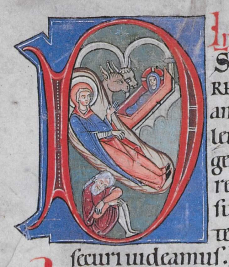 Tafel 6. Christi Geburt, Weingarten, 1. Drittel 13. Jh., Aa 32,75v