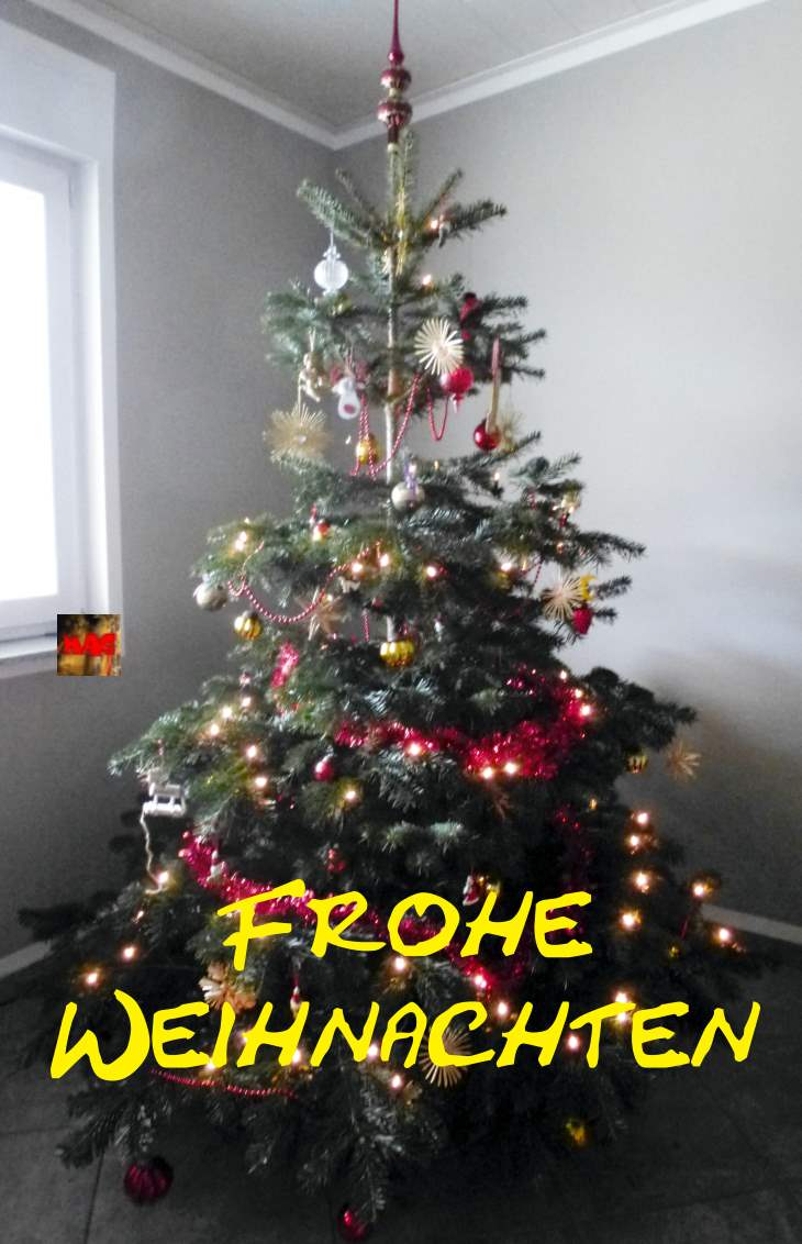 Frohe Weihnachten, Merry Christmas, God Jul