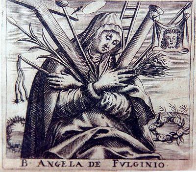 Angela von Foligno -Darstellung aus dem 17. Jahrhundert (Quelle: Wikipedia)