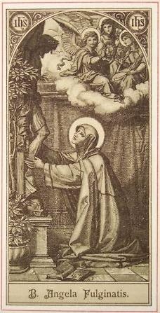 Angela von Foligno -Darstellung um 1890 (Quelle: Wikipedia)