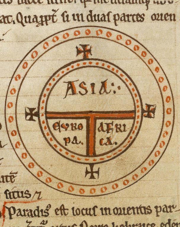 Weltkarte des Isidor von Sevilla (560-636)