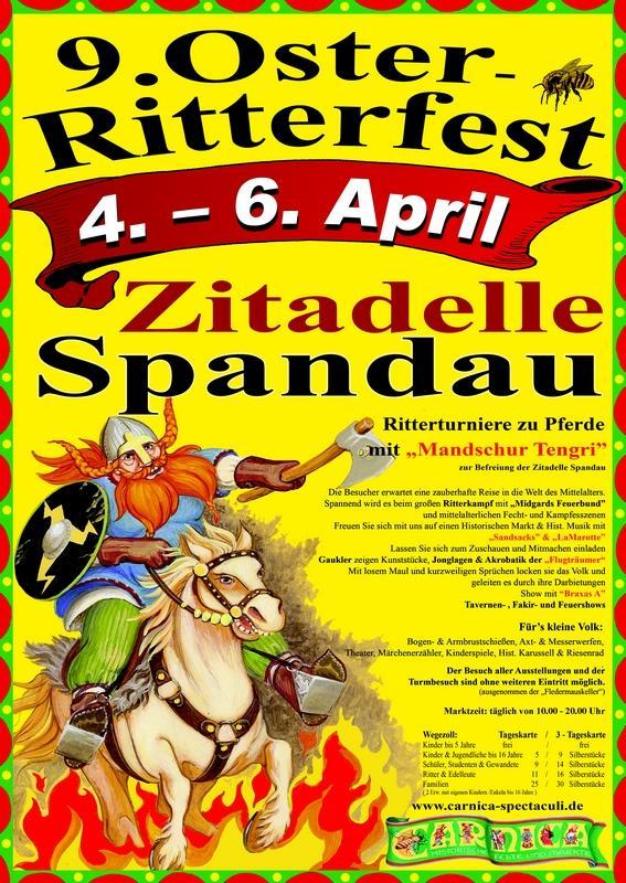 9. Oster-Ritter-Spectaculum auf der Zitadelle in Spandau in Berlin – 2015