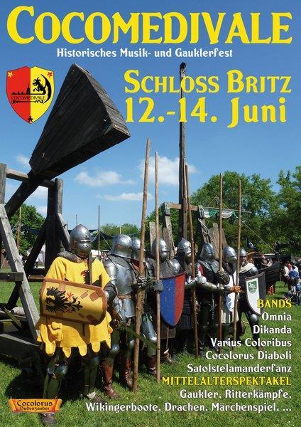 """Historisches Musik- und Gauklerfest """"Cocomedivale"""" auf Schloss Britz in Berlin – 2015"""