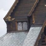 Stabkirche in Reinli - Detailaufnahme vom Dach
