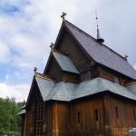 Stabkirche in Reinli - Ansicht von vorne