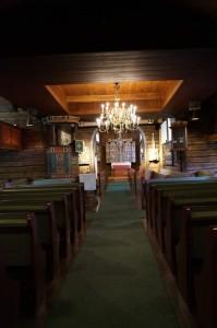 Stabkirche Hedalen - Innenraum - später angebauter Teil Quelle: eigene Aufnahme