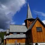 Stabkirche Hedalen - Ansicht von der Sonnenseite