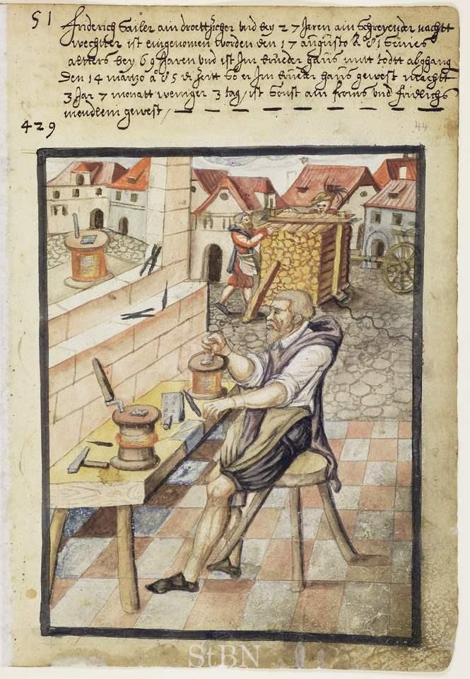 Friderich Sailer - Drahtzieher und Nachtwächter - Zwölfbrüderstiftung - Mendel II 044 r