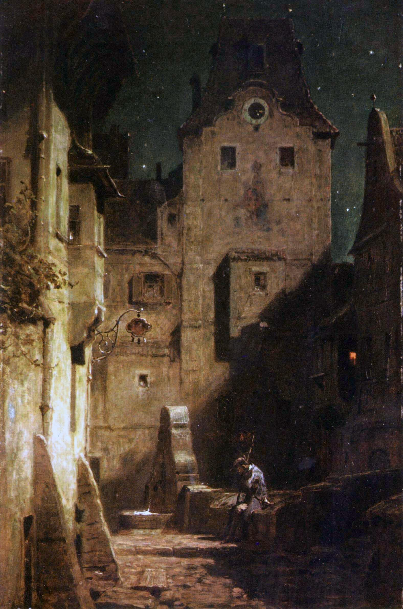 Der eingeschlafene Nachtwächter, Carl Spitzweg um 1875 (Quelle: Wikipedia)